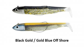 ΣΕΤ BLACK MINNOW 140 / No4 OFF SHORE - BLACK / GOLD - GOLD / BLUE